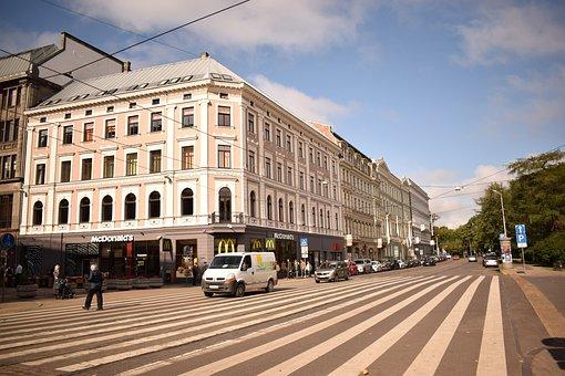 City, Street, Urban, Road, Traffic, Building, Modern