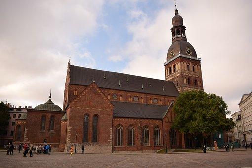 Cathedral, Square, Riga, Architecture, City, Tourism