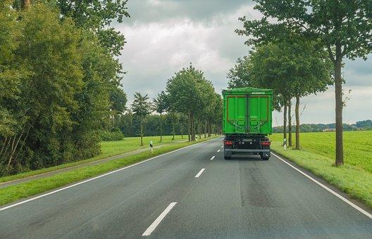 Road, Truck, Traffic, Drive, Landscape, Speed, Sky