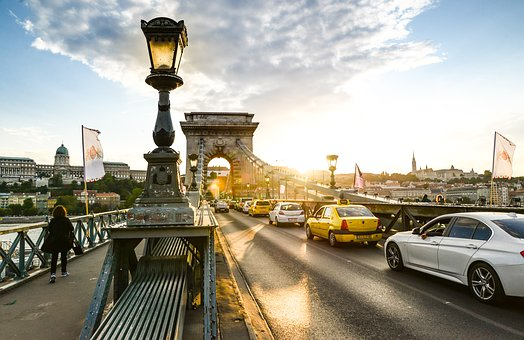 Chain Bridge, Budapest, Travel, Bridge, Hungary, River