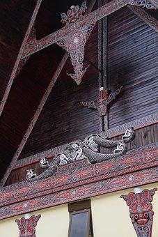 Batak, Ornament, House, Wood, Asia, Exotic, Indonesia