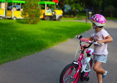 Child, Girl, Bike, Girl On A Bike, Young, Childhood