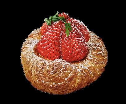 Cake, Tart, Strawberries, Pastries, Dessert