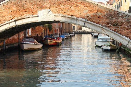 Venice, Bridge, Channel, Gondola, Venice Gondola