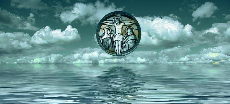 Cross, Christ, Sea, Redeemer, Faith, God, Jesus, Clouds