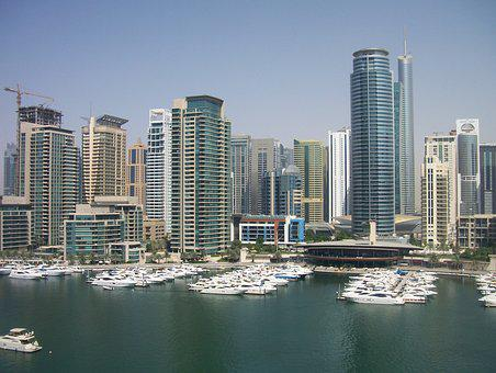 Dubai, Marina, View, Architecture, Emirates, Arab