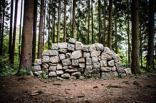 Stones, Granite, Structure, Chunks Of Granite, Forest