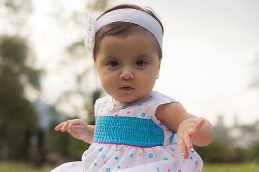 Baby, Girl, Child, Head Band, Dress