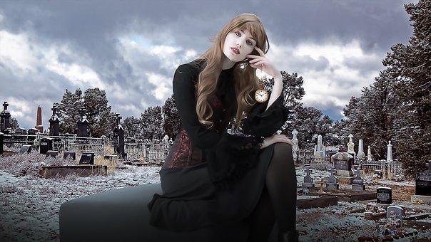 Vampira, Vampire, Vamp, Gothic, Goth, Dark, Woman