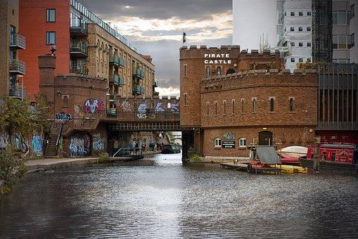 Pirates, Graffiti, Castle, Camden, Town, Fortress