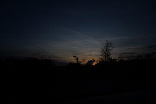 Sunset, Kalimantan, Indonesia, Borneo