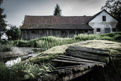 Bridge, Old House, Lapsed, Building, Farmhouse, Forget