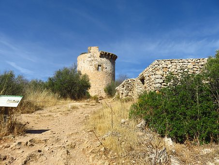 Watchtower, Ruin, Tower, Masonry, Old, Middle Ages