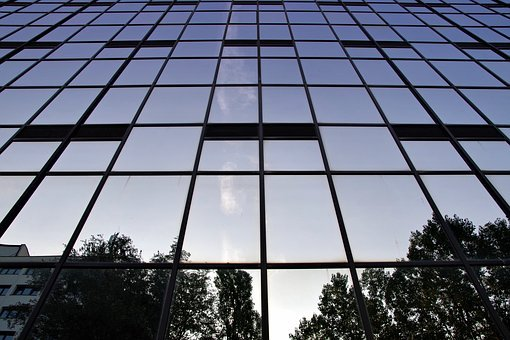 Office Building, Glass, Wall, Skyscrapers, The Window