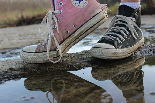 Converse, Sneakers, Shoe, Outdoors, Conversky, Sun