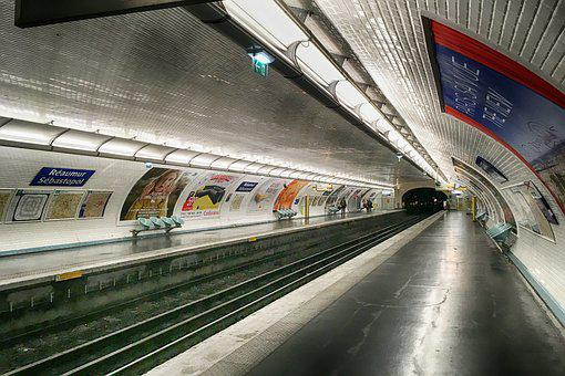 Paris, Metro, Station, France, Sebastopol, Reaumur