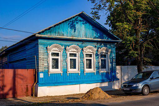 House, Old, Russia, Borovsk, Wood, Historical, Bright