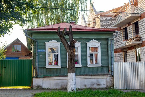 House, Old, Russia, Borovsk, Wood, Historical