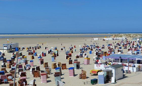 Beach, Clubs, Summer, Sun, Sea, Borkum