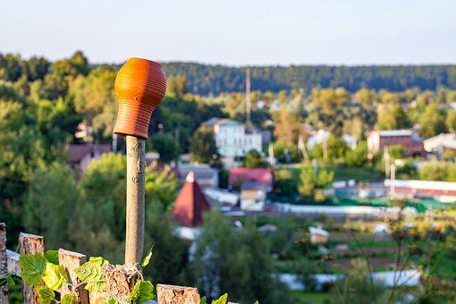 Background, The Blurred, Bokeh, Pot, Pitcher, Village