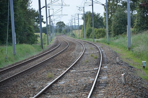 Track, Railway, Train, Rails, Speed, Traveling