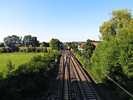 Tracks, Rails, Landscape, Railroad Tracks, Transport