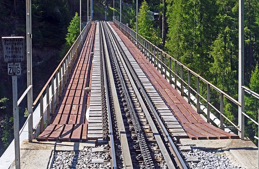 Valley Bridge, Railroad Track, Rack Railway