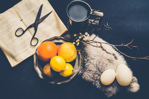 Still Life, Vintage, Fruit, Fruits, Apple, Lemon, Eggs