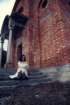 Ghost, Bride, Church, Old, Architecture, Scary, Woman