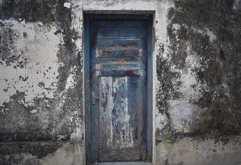 Door, Closed, Vintage, Doorway, Entrance, Wooden