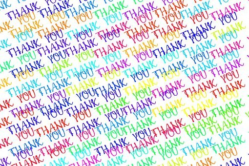 Thank You, Font, Colorful, Word, Color, Letters