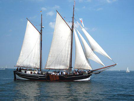 Kiel, Sailing Vessel, Baltic Sea, Ship, Zweimaster