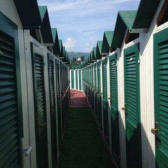 Cabins, Sea, Beach, Rapallo, Bathrooms, Lido