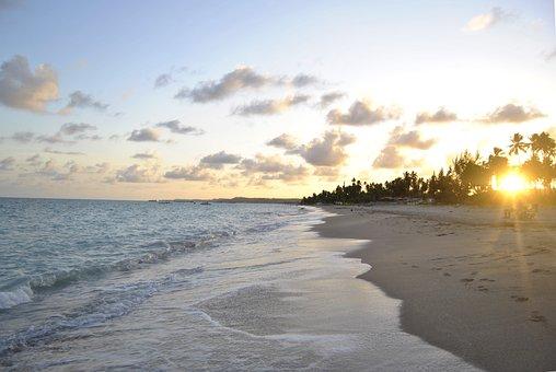 Beach, Sundown, Sunrise, Sunset, Sea, Brazil, Ocean