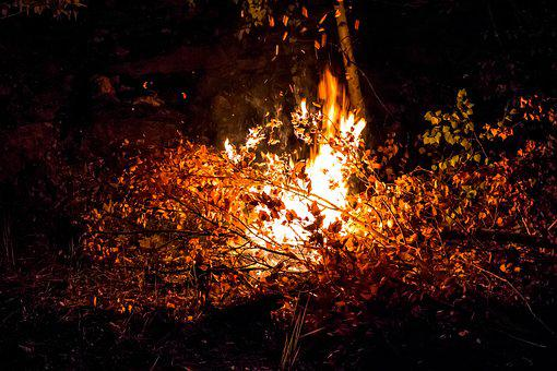 Koster, Night, Camping, Halt, Fire, Flame, Burns, Fever