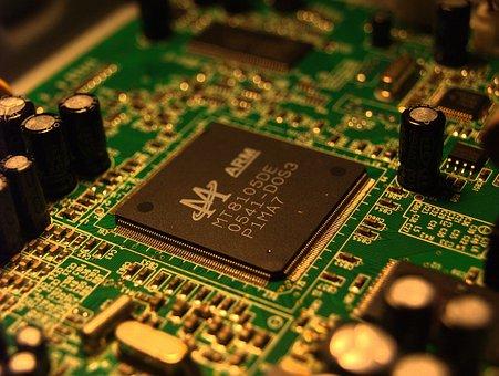 Electronics, Circuit, Chip, Microchip, Capacitor