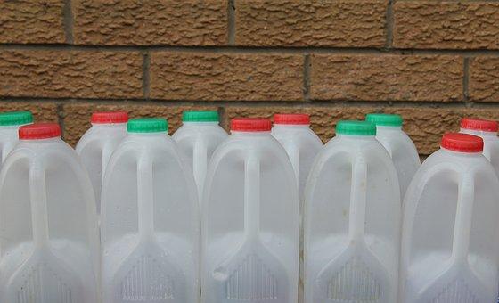 Plastic, Container, Bottle, Milk, Liquid, Background