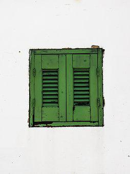 Window, Wooden, Green, Wall, Architecture, Traditional