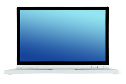 Laptop, Notebook, Front, Transparent