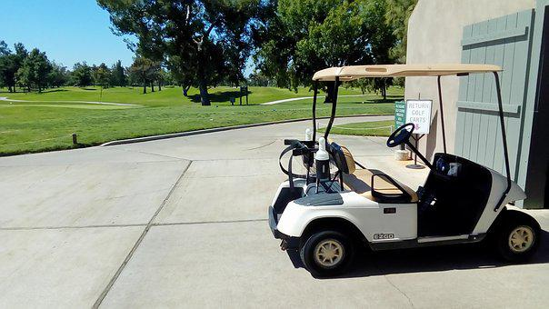 Golf, Golf Cart, Club, Golfer, Golfing, Leisure, Green