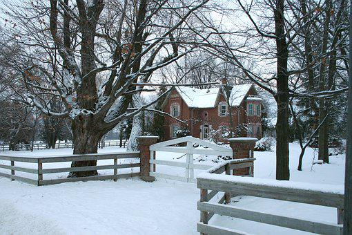House, Home, Winter, Snow, Residence, Farm House, Farm