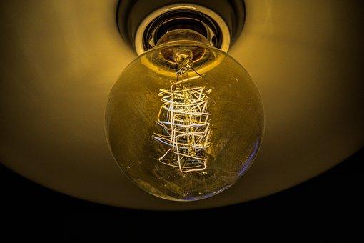 Light Bulb, Pear, Light, Lamp, Lighting, Lamp Holder