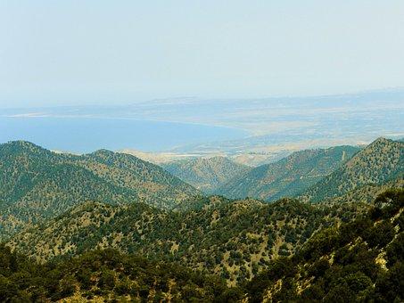 Cyprus, Mountains, Pine, Sky, Landscape, Journey