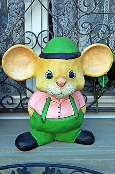 Decoration, Mouse, Funny, Fun, Face, Children, Play