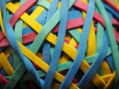 Rubber Band, Colorful, Knot, Rubber Bands, Green