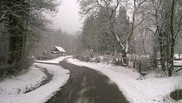 Snow, Schwalenberg, Winter, Grill Hut, Away, Snowy