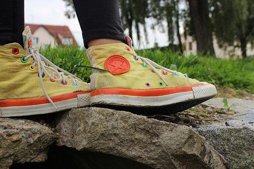 Converse, Sneakers, Shoe, Outdoors, Conversky, Sun