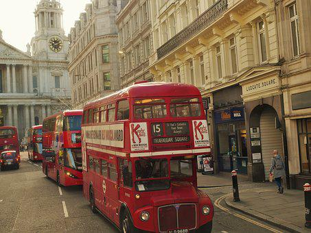 London, Antique, Vintage, Bus, Street, Road
