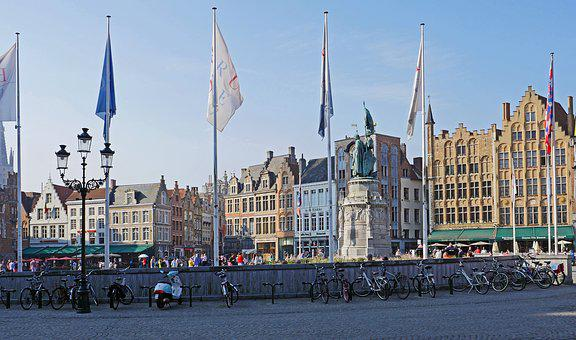 Bruges, Old Market, Stadtmitte, Centrum, Townhouses
