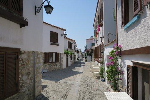 Turkey, Alley, Village, Romantic, Road, Homes